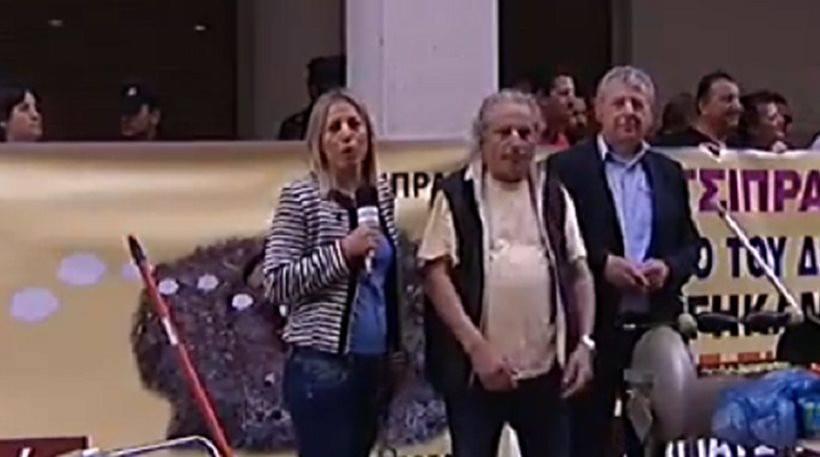 Έστησαν κρεμάλες έξω από το υπουργείο Υγείας - «Εκσκαφέας ο Πολάκης»