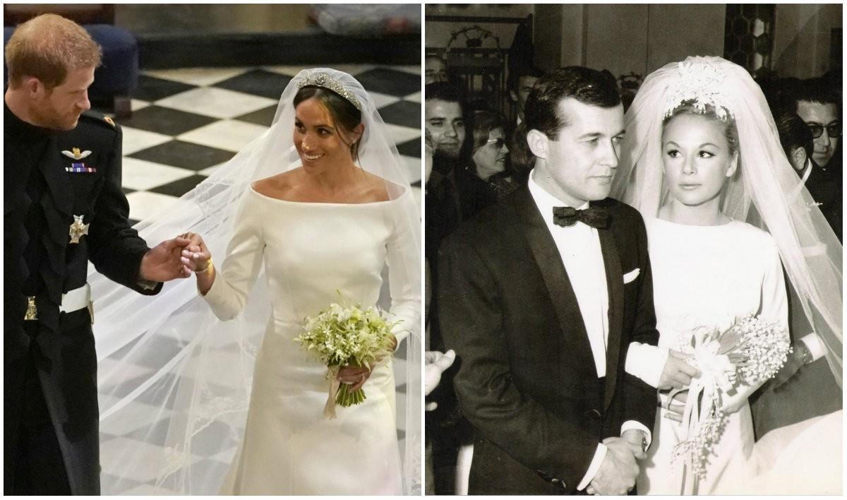 27dbe395ea4 Δείτε την ομοιότητα του νυφικού Givenchy που φόρεσε η Βουγιουκλάκη πολύ  πριν από τη Μαρκλ