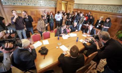 Διέκοψε τη συνεδρίαση στους ΑΝΕΛ ο Καμμένος – «Άκυρο» στο αίτημά του να αποσυρθούν οι υπουργοί των ΑΝΕΛ από την κυβέρνηση