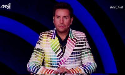 Τρελό γλέντι στο twitter με το πολύχρωμο κοστούμι του Μαζωνάκη 4157cde516e
