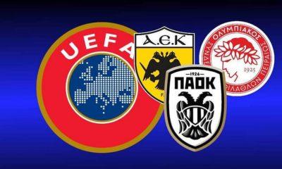 Για πρώτη φορά μόνο μία ελληνική ομάδα σε ευρωπαϊκούς ομίλους – Η βαθμολογία της UEFA