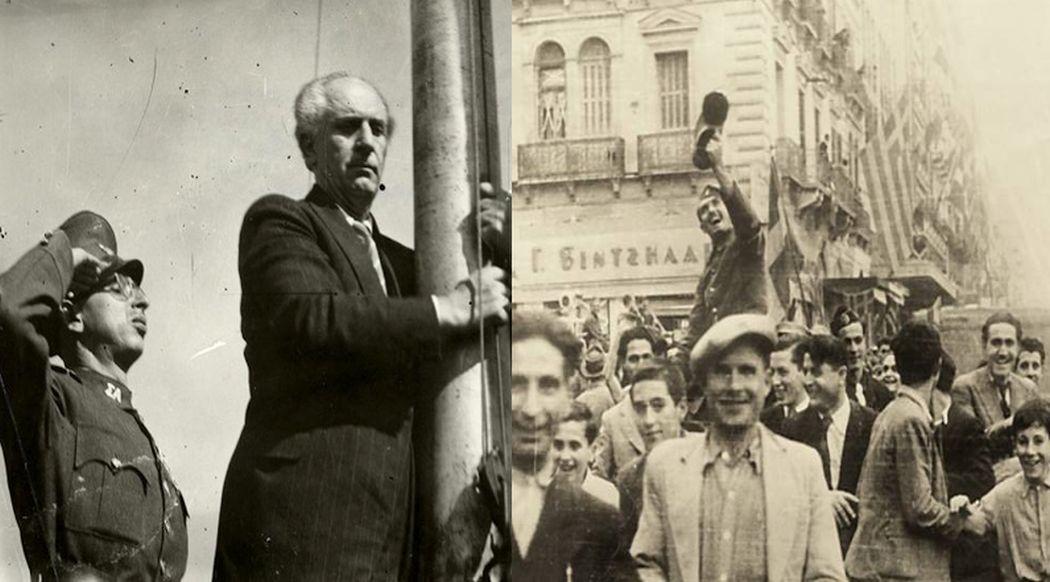Η απελευθέρωση της Αθήνας από τους Ναζί και ο ιστορικός λόγος του Γεωργίου  Παπανδρέου: «Νέος κόσμος θα υψωθεί από τα ερείπια»