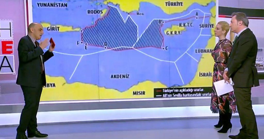 Συνεχίζει τις προκλήσεις ο Ερντογάν – Οι τουρκικοί χάρτες που εξαφανίζουν την ΑΟΖ της Κρήτης και της Κύπρου
